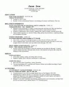 Writing A Resume For College by College Resume 2 Resume Cv