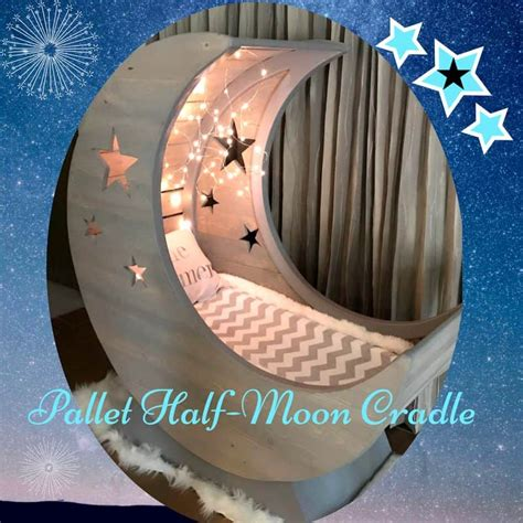 starry night pallet  moon cradle  pallets