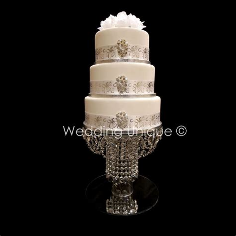 crystal cake stand wedding cake stand glass chandelier