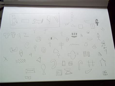egyptian hieroglyphics  drawing drawing  cut