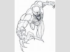 Carnage Free Colouring Pages