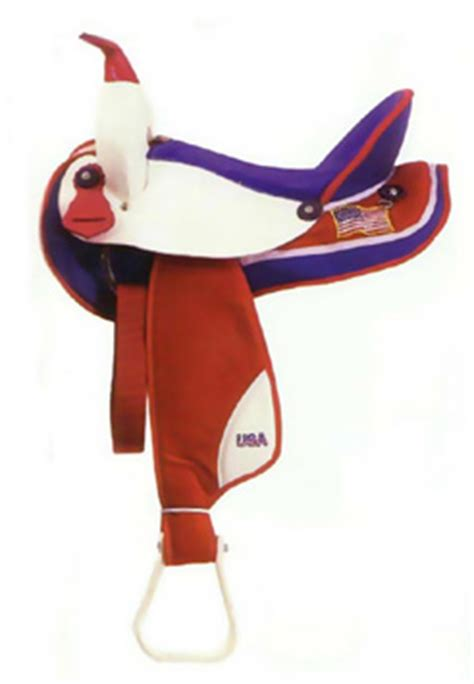 foto de USA All American Western Saddle Red White and Blue