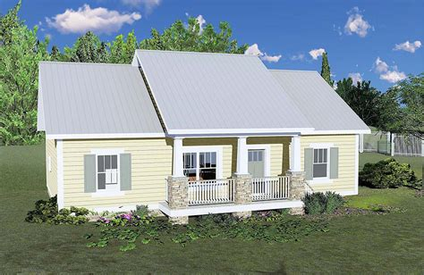 House Plan 64595 Country Style with 1311 Sq Ft 3 Bed 2