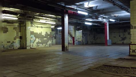 empty underground garage   residential building stock