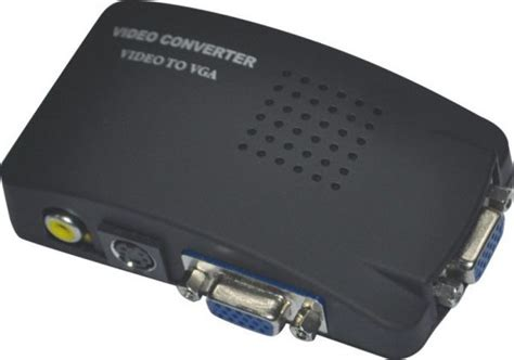 Tv Rca Composite S-video Av In To Pc Vga Lcd Out Converter