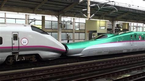 E5系やまびこ・はやて運転開始 E3系併結 小山駅 【Shinkansen E5 series with E3 ...