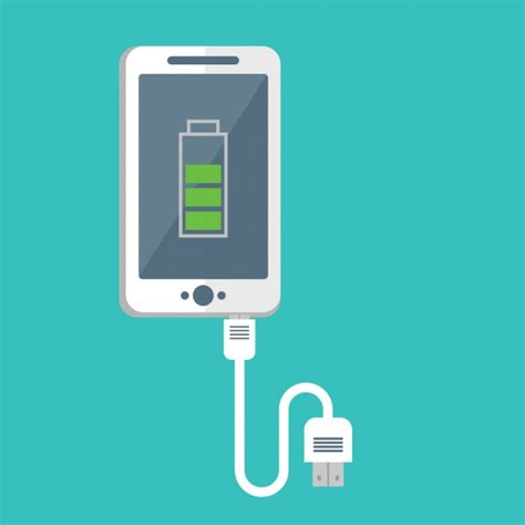 mobile phone charger mobile phone charging design vector free