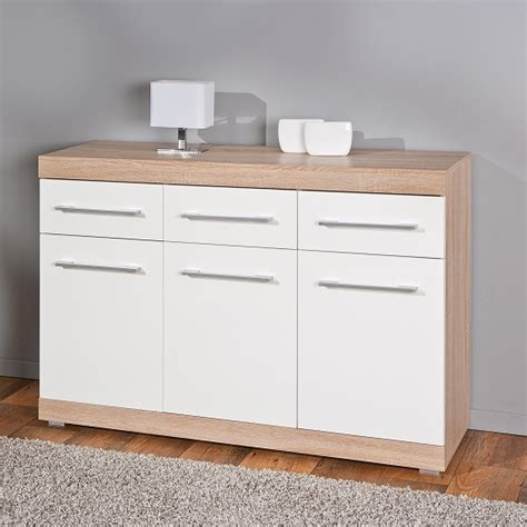White Sideboard Modern by Metford Modern Sideboard In Oak With White Gloss Front 3
