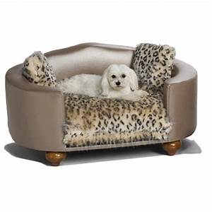 Hollywood leopard dog bed luxury dog boutique at for Upscale dog beds
