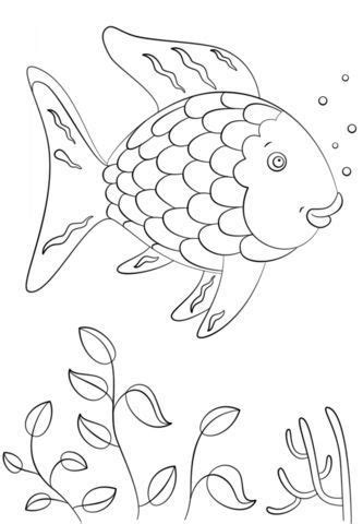 Rainbow Fish coloring page from Rainbow Fish category