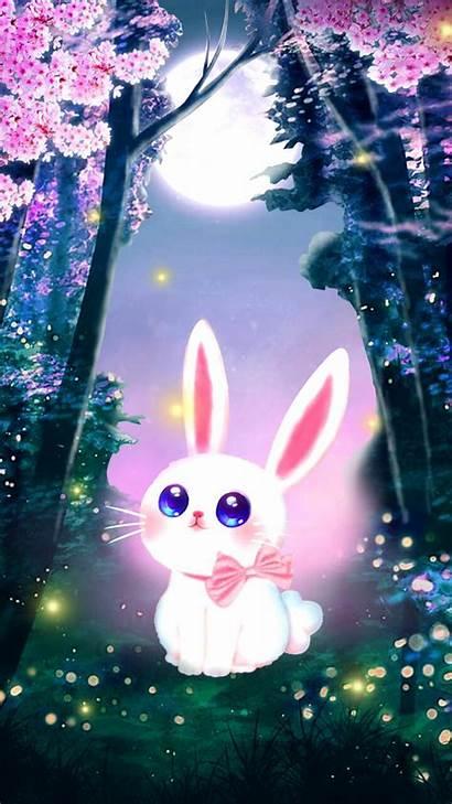 Bunny 3d Spring Background Season Artstation 2d