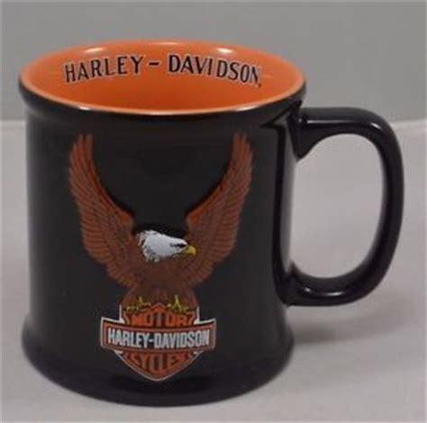 Collectible Mug Coffee Cup Harley Davidson Large Ceramic 2002 Eagle Logo Black   eBay