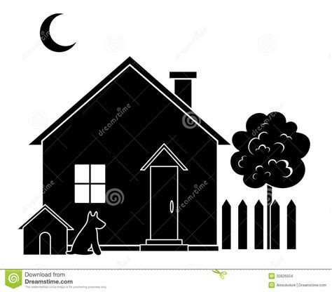 house  tree silhouette stock vector image  icon