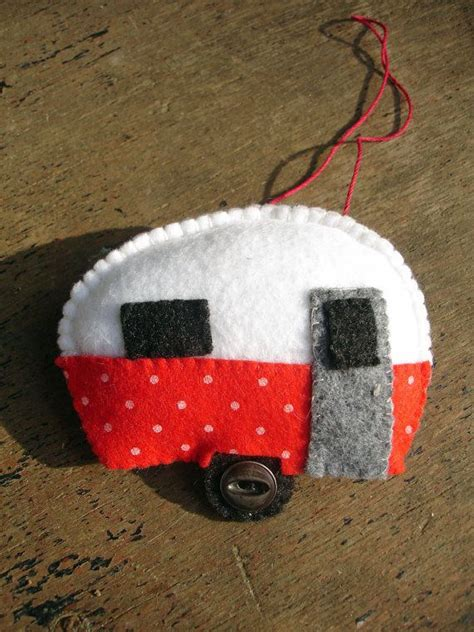 teardrop ornament diy and white polka dotted teardrop trailer ornament x crafts felt