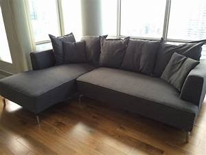 Structube kennedy sectional sofa for sale downtown toronto for Leather sectional sofa sale toronto
