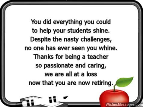 teacher retirement poems  quotes quotesgram