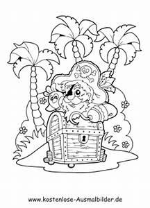 Ausmalbilder Pirat Insel Schatzkiste Piraten Zum