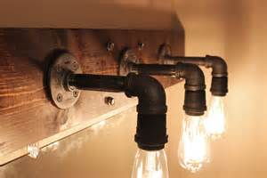 Diy Industrial Bathroom Mirror by Diy Industrial Bathroom Light Fixtures