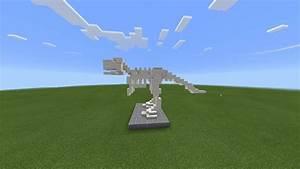 Dinosaur Skeleton BUILD - Minecraft PE 0.13.1🍕 | Minecraft ...