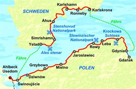 ostseeradweg polen von usedom nach gdansk und
