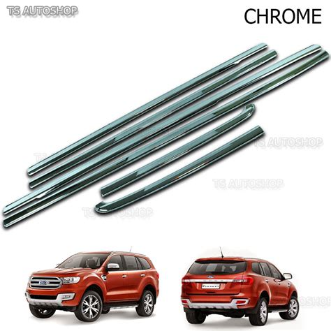 Window Sill Liner by Line Window Sill Chrome 4 Door Cover Trim For Ford Everest