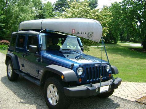 jeep kayak rack soft top canoe kayak rack jk forum com the top