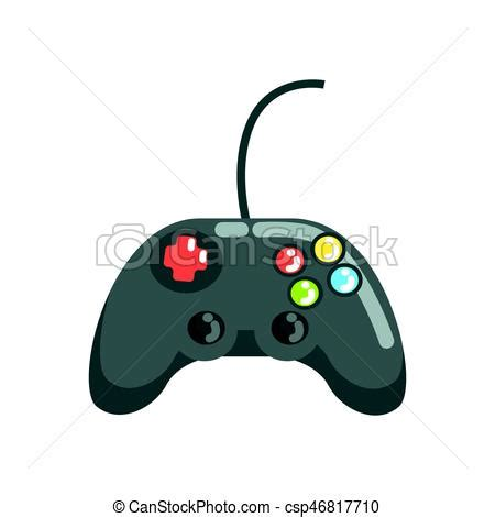 video game controller gamepad colorful cartoon vector