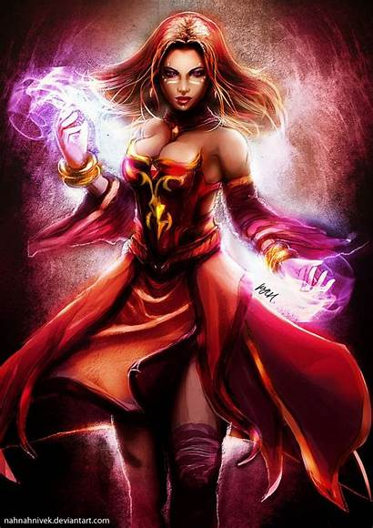 Lina Inverse Dota Deviantart Fantasy Fire Female