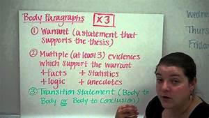 The Five Paragraph Argumentative Essay Structure