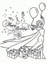 Birthday Coloring Card Cards Happy Pages Printable Elsa Frozen Template Party Printables Folding Drawing Print Wuppsy Holiday Disney Templates Alphabet sketch template