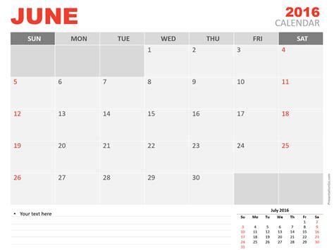 powerpoint calendar template june 2016 powerpoint calendar presentationgo