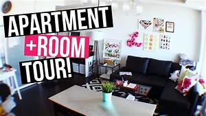 FULL APARTMENT + ROOM TOUR! LaurDIY - YouTube