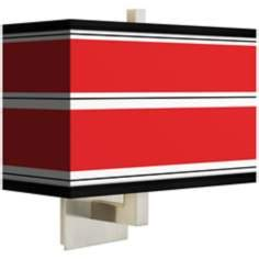 red rectangular l shade art shade sconces by lsplus com