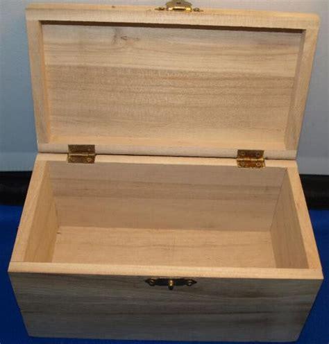 coffre en bois a decorer bois brut coffre bois 180 mm x 85 mm x 110 mm