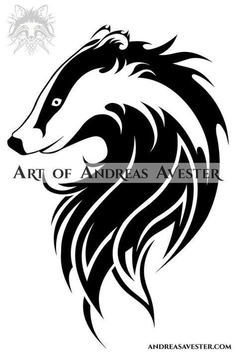 A badger logotype.   Honey badger tattoo, Tribal drawings, Badger tattoo