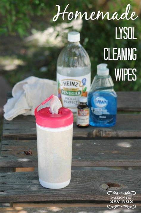Homemade Lysol Cleaning Wipes