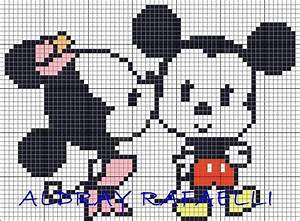 Mickey Pixel Art : 1000 images about mickey and minnie on pinterest minnie mouse baby mickey mouse and alpha ~ Nature-et-papiers.com Idées de Décoration
