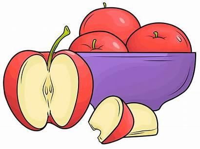 Plate Clipart Apples Creazilla Cliparts Transparent Vector