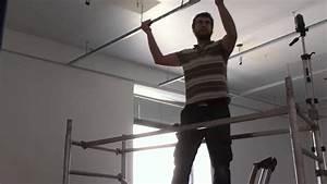 Pose D Un Faux Plafond En Ba13 : plafond suspendu en dalles de 60 x 60 youtube ~ Melissatoandfro.com Idées de Décoration