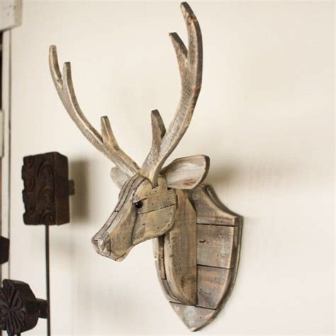 recycled wooden deer head wall mount home decor diy