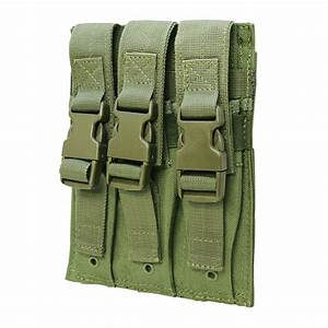 Molle Triple Airsoft Mp5 Magazine Pouch  22 Or 9mm Mag