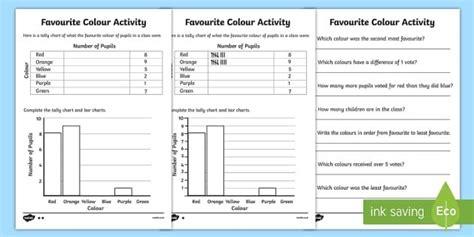 ks tally charts handling data maths numeracy ks