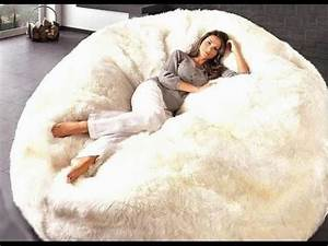 Extra large bean bag chairs for adults youtube for Big huge bean bag chair