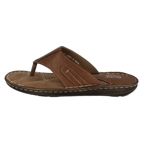 Homme Bata Comfit Toe Post Sandals  861 4601