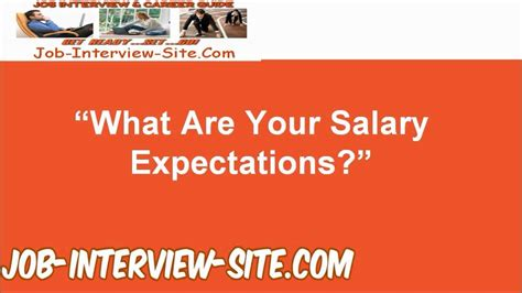 salary expectations answer question interview