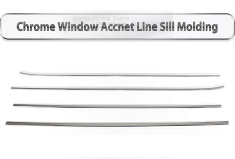 Window Sill Liner by Chrome Window Accnet Line Sill Molding K 838 For Kia 2015