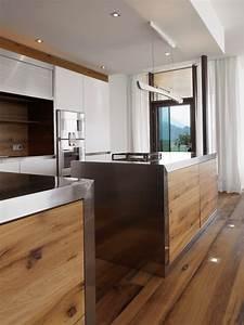 Deckenlampe Küche Modern : designk che mit edelstahl und eichenholz modern k che m nchen von werkhaus ~ Frokenaadalensverden.com Haus und Dekorationen