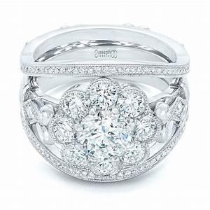custom diamond interlocking engagement ring 102845 With interlocking wedding rings
