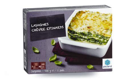 plats cuisin駸 picard lasagnes chèvre épinards surgelés les plats cuisinés picard