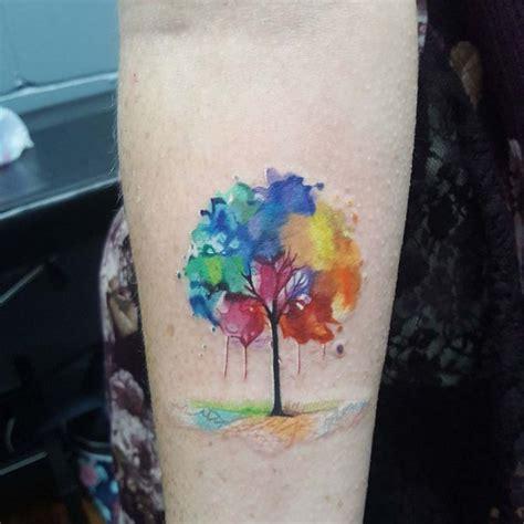 watercolor tree tattoo  arm  tattoo ideas gallery